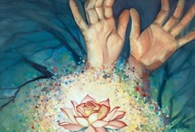 Reiki Healing Hands - Recieving Oneness / This board is a collection of images that compliment a concept I painted inspired by a Reiki session as a surprise gift to the Reiki master.  A depiction of the oneness of healing. We must heal ourselves to heal others. We are comforted so we can comfort others.   / by Sparrow's Hand