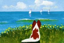 Doggies / Dog art. Papillons! / by Nancy O'Donnell