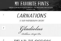 Fabulous Fonts / Because all good parties start with pretty paper / by Brittany Claridge