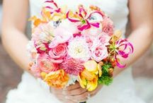 Brilliant Brides Bouquets -Hand Tied with a little BLING / Hand Tied Brides Bouquets- Brilliant or soft in color