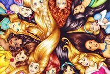 Princesas Disney / Personagens que eu e minha Filha curtimos... #Princesas