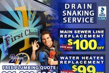 Drain Snaking in Bergen County, NJ / Are you looking for drain snaking in Bergen County, NJ? First Choice Plumbing, Heating and Drain Service is a licensed and bonded plumbing company specializing in drain snaking in Bergen County, NJ.