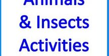 Animals & Insects Theme Special Education Activities / Animals & Insects activities, resources, crafts for teaching language, math, science, art, Stem in the special education classroom or homeschool