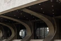 Concrete Design / Concrete, Brutalist Architecture, Japanese Spaces and the texture of bricks and cement structures