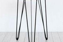 Rex Bar Stools / Gem + Lozenge / The Rex/Lozenge+Gem Bar Stool by Tuckbox Design. Timber and Metal variations.