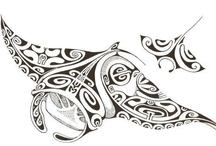 Maori / tribal tattoo Manta Ray, Turtles  / Some artworks I would love to have !