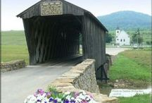 Kentucky's Covered Bridges / Once commonly seen across Kentucky, covered bridges have nearly disappeared from our state.  Many were destroyed during the Civil War.  Only approximately 13 remain standing.  Step back in time and see these sentimental symbols of days long past. / by Kentucky Tourism
