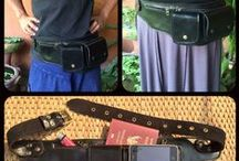 Leather Utility Belt | Hip Bag | Festival Pouch |  Pocket Purse Belt / Leather Utility Belts, hip bags handmade in Thailand with U.S based shipping.  Travel play and dance hands free while keeping your smart phone, money and passport secure at music festivals, markets and international adventures.  A great alternative to a purse these updated fanny packs have plenty of pockets and pouches to help keep you organized while on the go.