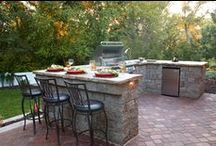 Outdoor Grilling / Get inspired with these built-in outdoor stone grill and kitchen designs.