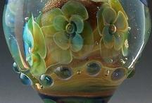 Lampwork beads flowers