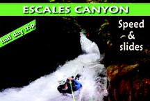 """Canyon de l'Escales / L'Escales est une course de caractère s'ouvrant dans une gorge luxuriante et ombragée. L'encaissement de granite s'ouvre dans une belle forêt de bouleau et n'est jamais très encaissé, mais le débit est conséquent. C'est un canyon sauvage, à dominance aquatique et très peu fréquenté... Un endroit et une ambiance """"à part"""", parfaits pour s'initier aux techniques et aux plaisirs de la descente de canyon par gros débit."""
