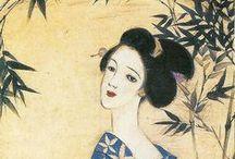 日本の美人画 / 水彩、油絵、イラスト、墨絵 日本の女性を描いた美しい絵ならなんでも。