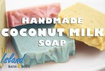 Coconut Milk Soap / The Island Bath & Body has been hand-making Coconut Milk Soap for over a decade with only the finest, cruelty-free ingredients. Lathering up with our Coconut Milk Soaps will give you a gentle deep clean without over drying!