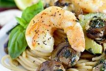Seafood Recipes / Main dish seafood options.  Seafood for lunch.  Seafood for appetizers.  Seafood for snacks.  Ditto to shrimp! Because some of us (like my husband) like seafood a whole heck of a lot!   / by Mirlandra's Kitchen