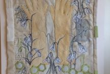 Snowdrops & secrets / Textile art, with a vintage charm more from Tabatha Mitchel-simons