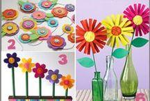Flowers / Kwiaty - inspiracje plastyczne, materiały, kolorowanki, szablony...