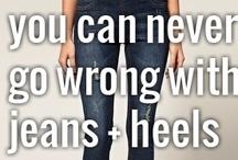 Jeans with heels/corset