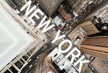"""New York New York / """"I newyorkesi camminano più in fretta, parlano più in fretta, pensano più in fretta. Non è necessario esserci nati per essere newyorkesi, ma dopo sei mesi tu camminerai parlerai e penserai più in fretta. E da quel momento anche tu potrai considerarti un newyorkese.""""  Edward Koch / by Paola Brambilla"""