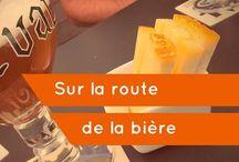 Sur la route de la bière / La bière en Belgique et partout dans le monde. Les abbayes, brasseries et monastères de Belgique et d'ailleurs