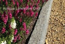 Reclaimed Antique Curb: Limestone, Granite, Sandstone / Impressive old antique limestone, granite or sandstone curb, also can be custom sawn to your specified length / height requirements. Curbing often shows hand chisel markings or appears smooth and worn to a wonderful aged patina. Perfectly appropriate in freezing conditions.