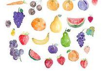 Watercolour / Ilustraciones, acuarela, watercolour, patterns.