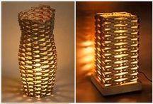 Tischlampen selbst gemacht - DIY / Hier findet Ihr Anleitungen und Inspiration für die Gestaltung von selbst gemachten Tischlampen. Von Tischlampen Design über vintage Klassiker alles zum selber machen!