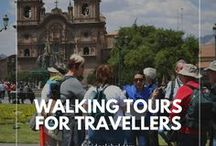 Walking Tours for travellers / Explore a new destination on foot and get a look at how the locals really live. Take a guided walking tour or just wander without a plan and find the real hidden gems.