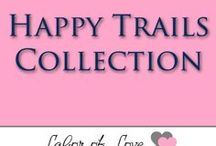 Happy Trails Collection / Experience the wonder of the Happy Trails Collection. Handmade with beautiful quality fabrics in navy blue, peach, and gold tones, this collection is perfect for sharing life's most treasured moments or grand adventures with your little one. The Happy Trails Collection features wonderful baby essentials and gift sets so your little one is ready for any adventure big or small!