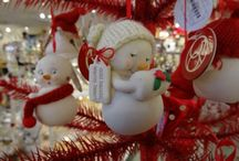 Snowpinions - Snowmen With Attitude! / Porcelain bisque ornaments and figures don hand-knit hats, earmuffs and scarves. Each delivers funny and sweet heartfelt sentiments to family and friends. Designed by Snowbabies artist Kristi Jensen Pierro.