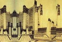 Sci-Fi Architecture / Futuristic architectural drawings and projects