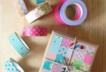 Washi tape / idee da realizzare con i nastri adesivi decorati.