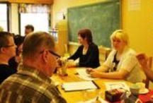 Vierailjoita / Kuvia VÄLKKEEN toimintaan tutustuvista ryhmistä, yhteistyöpalavereista jne.