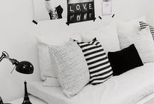 Black and White Dreams. . / Classy and modern black and white interiors