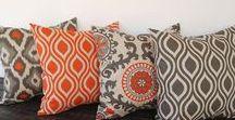 Grey and orange decor