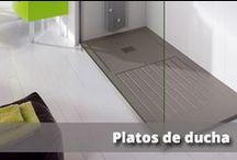 Platos de Ducha. / Una gran variedad de platos de ducha, de diferente medidas y acabados, desde los de porcelana,los acrilicos, hasta los de pizarra.
