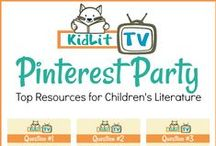 KidLit TV Top Resources for Children's Literature / KidLit TV is hosting a Pinning Party with Julie Gribble and the crew at KidLit.TV on January 29th at 9pm EST on this Pinterest Board. We are a community of authors, illustrators, educators, and parents all working together to bring great books to kids.  You're encouraged to comment and repin your favorites resources we share!  Enter to win the Giveaway on our website www.kidlit.tv   PLUS a few StoryMaker Guests will be here to chat with  YOU!