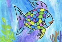 Thema Mooiste visje van de zee / by juf cindy