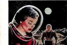 Spacegirls / Photos, illustrations, cartoons, etc of (mostly) retro style space girls.