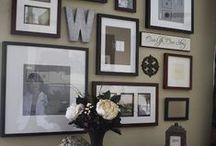Ściany zaaranżowane zdjęciami (insp.)