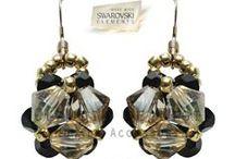 Aros / Aros realizados con cristales Swarovski Elements, perlas y fornituras de acero quirúrgico, plata o gold filled
