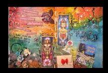 Carnets Voyageurs / Un échange de carnets sur plusieurs mois: 8 participantes, ça fait 8 carnets à personnaliser et décorer.