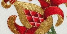 Goldwork & Jacobean embroidery