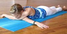 Exercises / A variety of exercises using weights. Yoga poses.