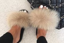 Fur Slides / Real fox fur slides, fluffy sandals that you can find in our online fur store. Classy fur shoes with rubber sole. Made of high quality real fox rabbit or mink fur.