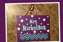 Teacher's Nameplates  / Teacher's Nameplates is a Pinterest board for teachers or educators to pin nameplates that teachers use in their classrooms. #TeachersNameplates #TeachersLabels #TeachersTags