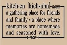 Kitchens are made to bring families together... / CooKing wiTh loVE provides fOOd for the sOul...
