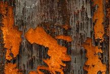 Abstract art, colours and rust