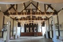 Our Work // Village Hall Lighting / How lighting can transform village halls for stunning weddings! Before and After shots of some lovely halls where we've worked. All pins here show our own work.