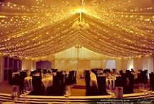 Our Work // Marquee Lighting / Marquee wedding lighting by Oakwood Events. All the pins here show our own lighting. Some images were captured by talented professional photographers - click through to see their blog posts.
