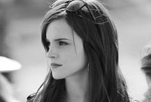 Emma Watson en noir et blanc